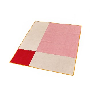 chapter1(챕터원),Modern Quilt Blanket - Pink/Red